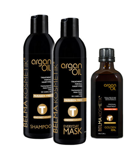 Sparset Argan Oil Shampoo + Mask + Golden Oil